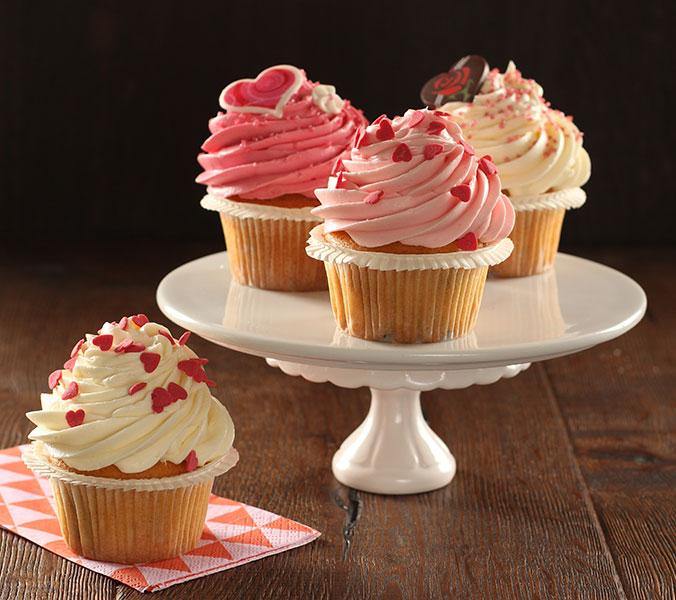 Der Beck Valentins-Cupcakes