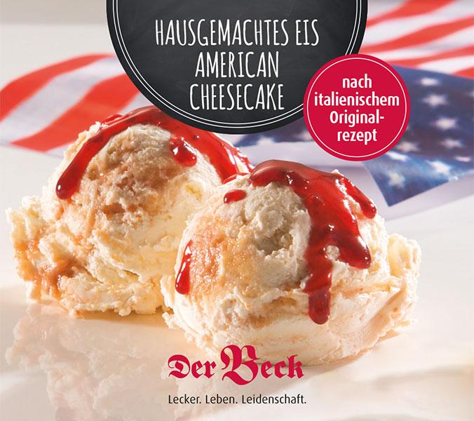Bäckerei Der Beck American Cheesecake Eis im Becher