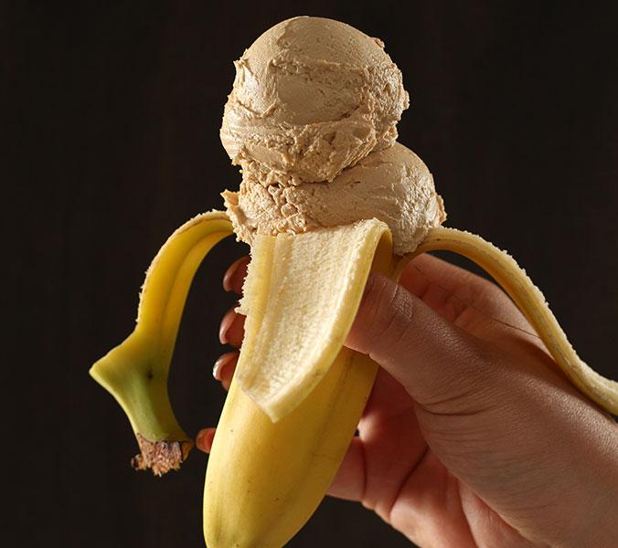 Eis Banane-Karamell