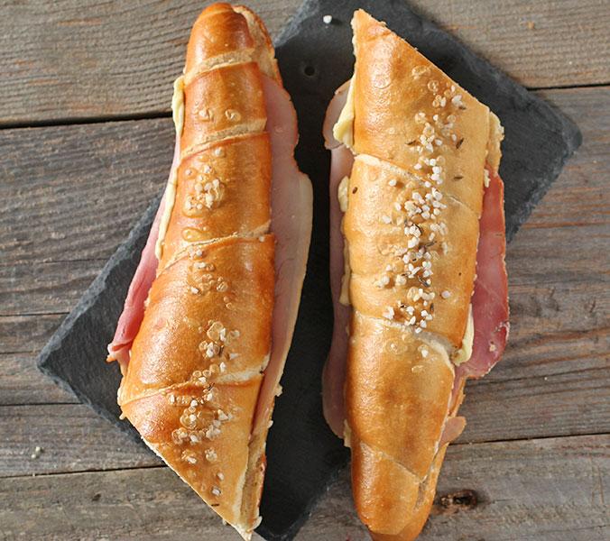 Der Beck Salzstange mit Frühstücksschinken
