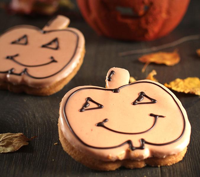 Halloween Kürbiscookie