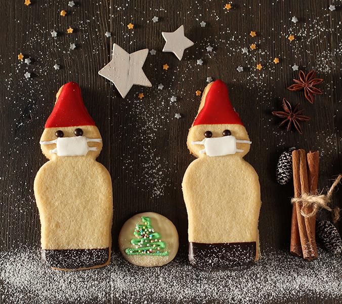 Bäckerei Der Beck Weihnachtswichtel mit Maske