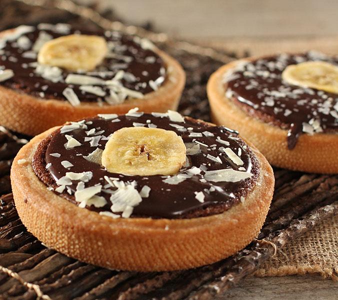 Schoko-Bananen-Tartelett